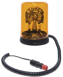 ROTATING BEACON 12V MAGNETIC BASE / WITH SPIRAL CABLE AND CIGARETΤE PLUG
