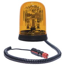ROTATING BEACON 12V MAGNETIC BASE / WITH SPIRAL CABLE AND CIGAREΤTE PLUG