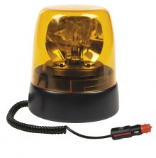 ROTATING BEACON 9-33V MAGNETIC BASE / WITH SPIRAL CABLE AND CIGAREΤTE PLUG